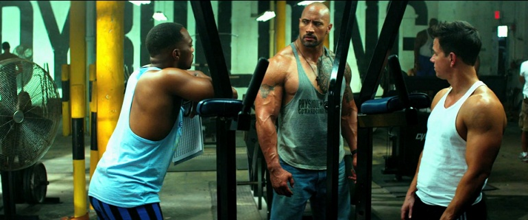 dwayne-johnson-workout-pain-and-gain-mark-wahlberg-anthony-mackie