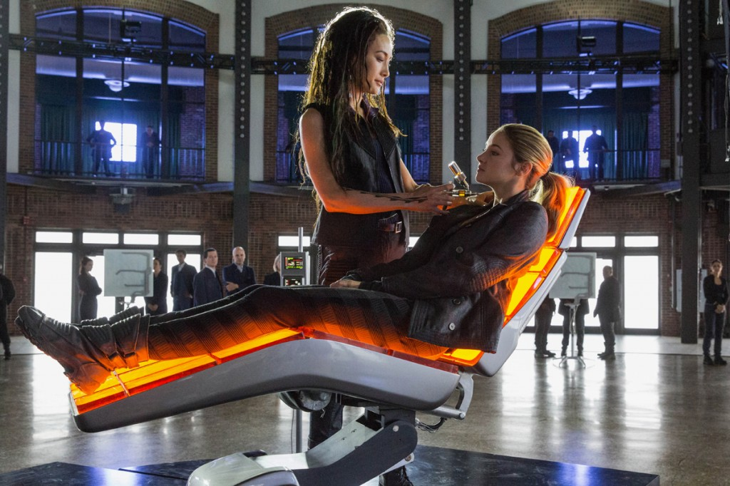 MAGGIE Q AND SHAILENE WOODLEY star in DIVERGENT