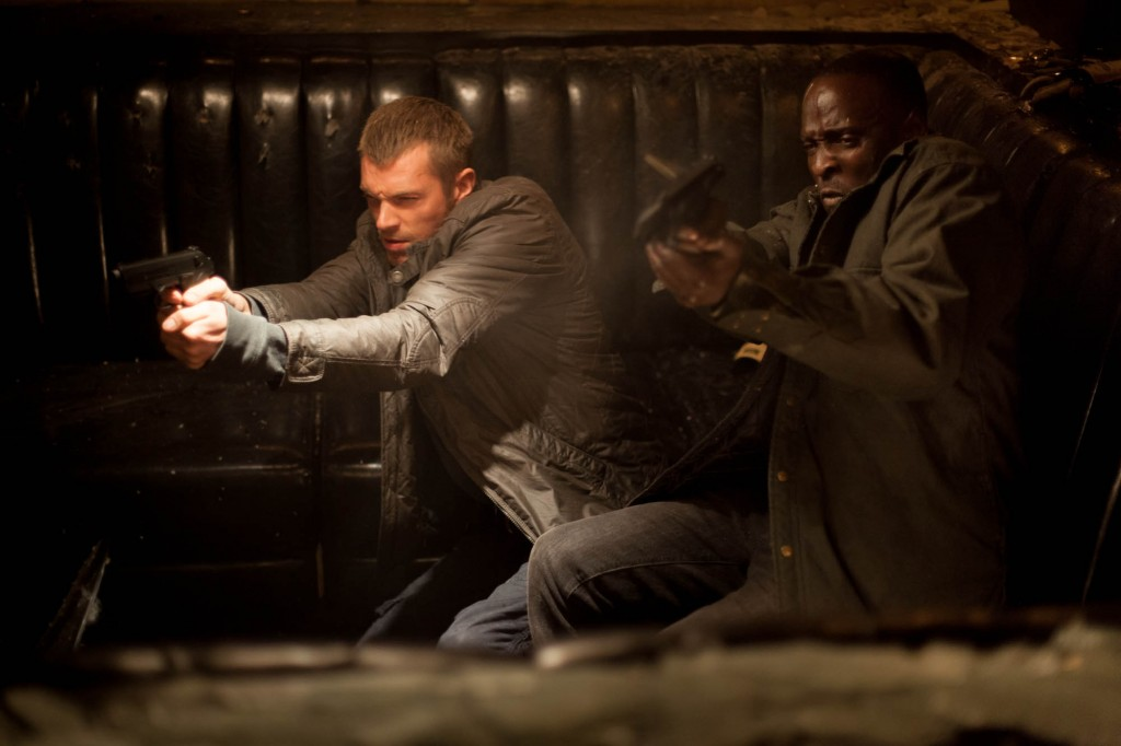"Joel Kinnaman and Michael K Williams star in Columbia Pictures' ""RoboCop."""