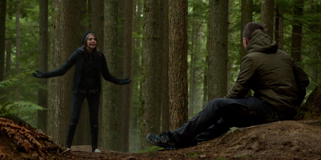 Arrow-s3e14-Oliver-Thea-forest