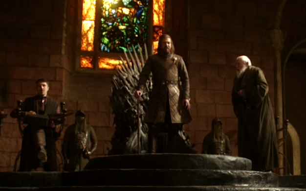 Ned.threatens.LordTywin